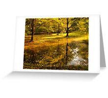 Отражение осени -Fall Reflection Greeting Card
