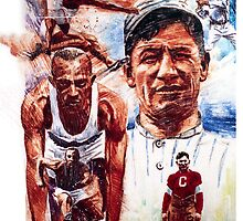 Jesse Owens and Jim Thorpe by kenmeyerjr