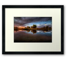 Between Calm Framed Print