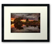River Light Framed Print
