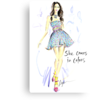 She Comes In Colors Canvas Print