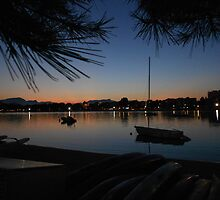 Sunset in Alcudia Port by evissaboutique