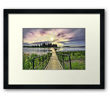 Boardwalk into Sunset HDR Framed Print
