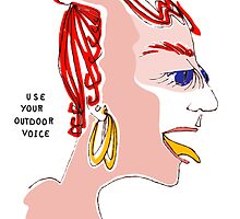 Use Your Outdoor Voice Greeting Card by lynsouthworth