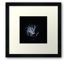 """""""The Look Back"""" Timber Wolf Portrait Framed Print"""