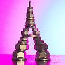 Pink Eiffel by Lindie