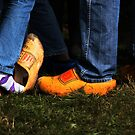 Denim And Wooden Shoes by Alan Harman