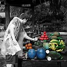 Shopping For Fake Fruit (selective color) by lroof