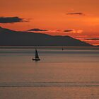 Sunset Sail - English Bay by Melodie Douglas