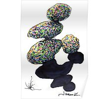 c8-Frivolously Stacked Boulders Poster