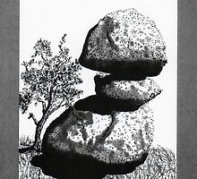 Boulders with Live Oak Tree by James Lewis Hamilton