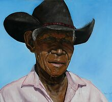 Portrait of Poppa Fred by Wayne Dowsent