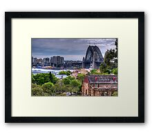 Old & New - The Rocks, Sydney Harbour & The Coat Hanger - (2nd Cut) The HDR Experience Framed Print
