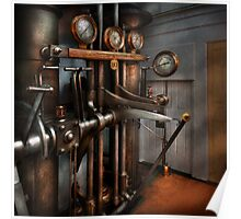 Steampunk - Controls - The Steamship control room Poster