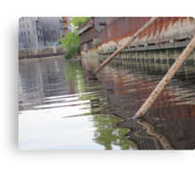 Rusted Industry and Nature Canvas Print