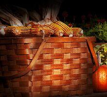 Autumn - Gourd - Fresh corn by Mike  Savad