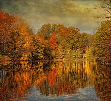 Autumn - Landscape - Tamaques Park - Autumn in Westfield New Jersey  by Mike  Savad