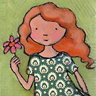 """Rosamund"" with flower by Bethan Matthews"