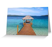The Jetty Vanuatu Greeting Card