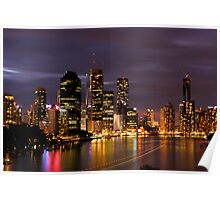 Brisbane City, Australia at night Poster