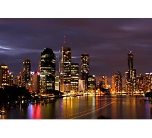 Brisbane City, Australia at night Photographic Print