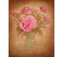 Nostalgic pink peonees Photographic Print