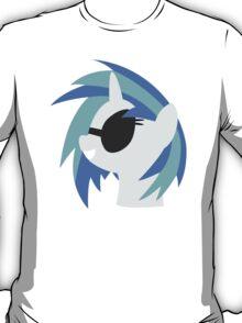 Vinyl Scratch sillhouette 2  (No boarder) T-Shirt