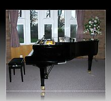 As Shadows Fall - Grand Piano In Reflection Frame by BlueMoonRose