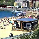 """Beachlife - San Sebastian, Spain"" by Michelle Lee Willsmore"