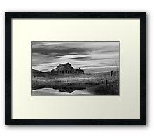 Black Sage from dawn to dusk 7/7 BW Framed Print