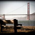 The bench and the Bridge by MarceloPaz