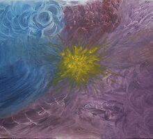 Violet, blue waves by blackuprise