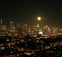 Moonrise over San Francisco by Harry Snowden