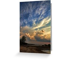Trailing Clouds Near Sunset Greeting Card