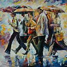 TODAY I FORGOT MY UMBRELLA - LEONID AFREMOV by Leonid  Afremov