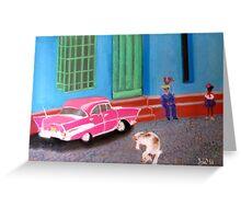 street life in Trinidad, Cuba Greeting Card