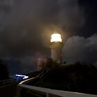 Byron Bay - Light House at night. by benjilach