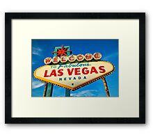 Welcome to Las Vegas sign Framed Print