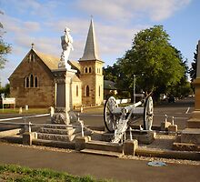 Cenotaph and Catholic Church, Ross by Wendy Dyer