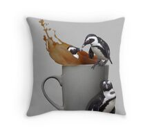 Tea Break - Pick up a Penguin Throw Pillow