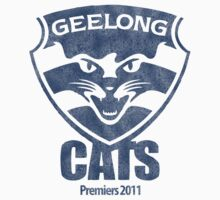 Geelong Cats, AFL Premiers 2011 (Washed Worn Look) Kids Clothes