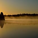 A Boundary Lake at Sunrise by pshootermike