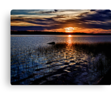 "Sunset On St. Mary""s Bay Canvas Print"