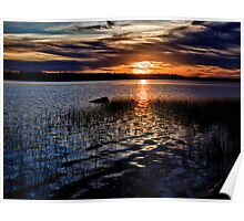 "Sunset On St. Mary""s Bay Poster"