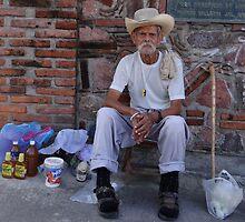 The old seller of honey - Viejo vendedor de miel by Bernhard Matejka