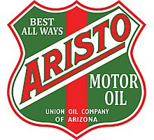 Aristo Motor Oil vintage sign reproduction Photographic Print