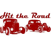 Hit the Road Hot-Rods Photographic Print