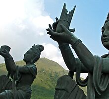 Gods at the Big Buddha by christina chan