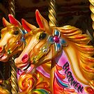 Merry-go-round Horses by Artberry