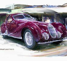 1938 Talbot Lago T 150 CS  by RGMcMahon